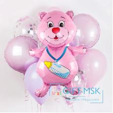 Букет из шаров Мишка для девочки