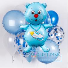Букет из шаров Мишка для мальчика