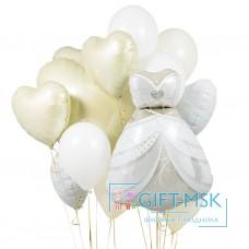 Букет из шаров Платье невесты
