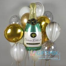 Букет из шаров Игристое шампанское