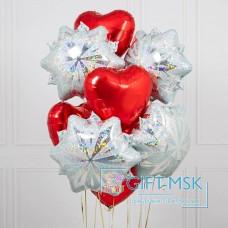Букет из шаров Снежинки любви