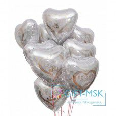 Букет из шаров Свадебные сердца