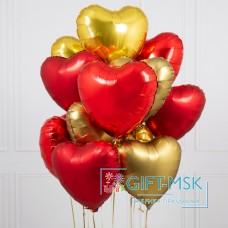 Букет из шаров Сердца микс