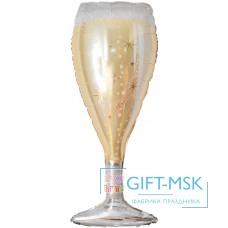 Фольгированная фигура Бокал Искрящееся шампанское