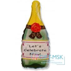 Фольгированная фигура Бутылка шампанское