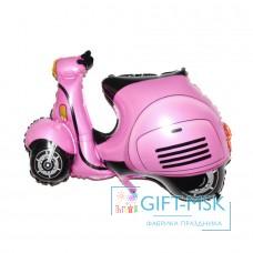 Фольгированная фигура Cкутер (розовый)