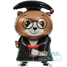Фольгированная фигура Медведь Выпускник