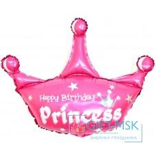 Фольгированная фигура Корона С Днем Рождения Принцесса