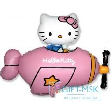 Фольгированная фигура Hello Kitty Котенок в самолете