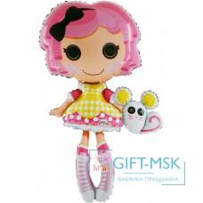 Фольгированная фигура Кукла маленькие пуговки