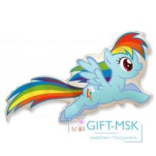 Фольгированная фигура My Little Pony Лошадка Радуга