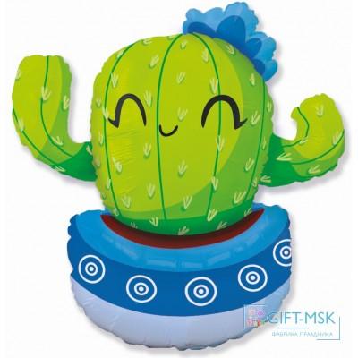 Фольгированная фигура Счастливый кактус