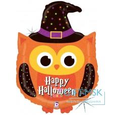Фольгированная фигура Сова - волшебница на Хэллоуин