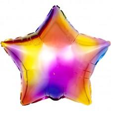 Фольгированная звезда Радужные блики Разноцветный Градиент