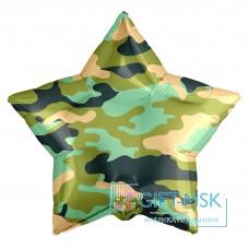 Фольгированная звезда Камуфляж