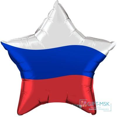 Фольгированная звезда  Триколор России
