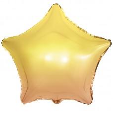 Фольгированная звезда Желтый Градиент