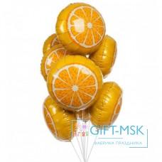 Фон тан из шаров  Апельсин