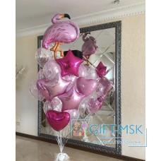 Фонтан из шаров Розовый фламинго