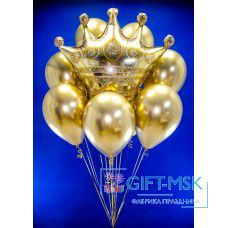 Фонтан из шаров Золотая корона