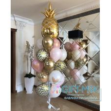 Фонтан из шаров Золотой ананас