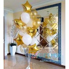 Фонтан из золотых шаров