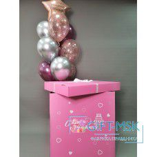 Коробка с шарами для девочки