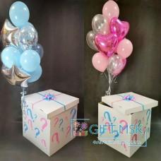 Коробка с шарами мальчик или девочка