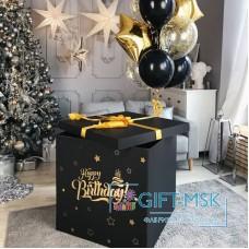Коробка с черными шарами
