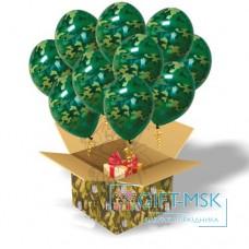 Коробка с шарами камуфляж