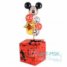 Коробка с шарами Микки Маус