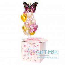 Коробка с шарами Бабочка