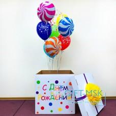 Коробка с шарами Карамельки