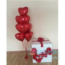 Коробка с шарами Love