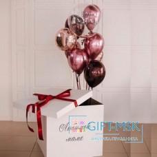 Коробка с шарами для мамы