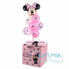 Коробка с шарами Минни Маус