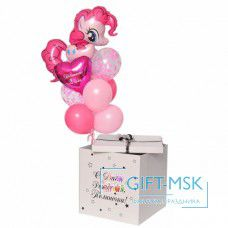 Коробка с шарами Пинки пай