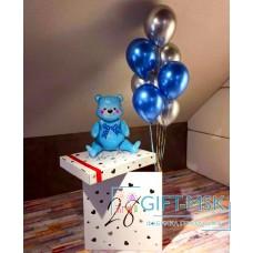 Коробка с шарами С рождением мальчика