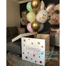 Коробка с шарами Зайка