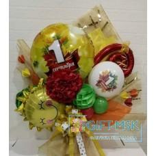 Крафтовый букет из шаров 1 сентября
