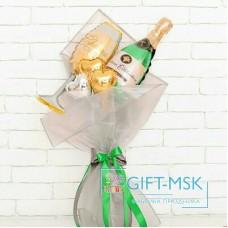 Крафтовый букет из шаров Брызги шампанского