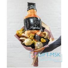 Крафтовый букет из шаров Двойной виски