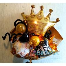 Крафтовый букет из шаров Королеве