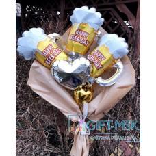 Крафтовый букет из шаров Кружка пива