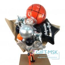 Крафтовый букет из шаров Любимому тренеру
