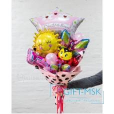 Крафтовый букет из шаров Маленькой принцессе