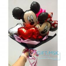 Крафтовый букет из шаров Микки и Минни
