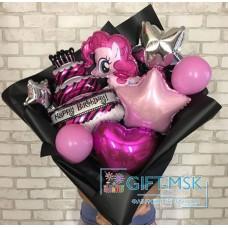 Крафтовый букет из шаров My Little Pony