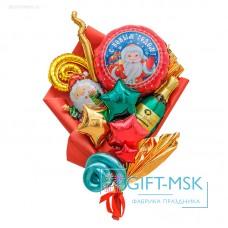 Крафтовый букет из шаров С новым годом