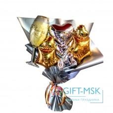Крафтовый букет из шаров На годовщину свадьбы